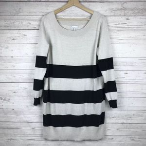 French Connection Sweater Dress Striped Size XL